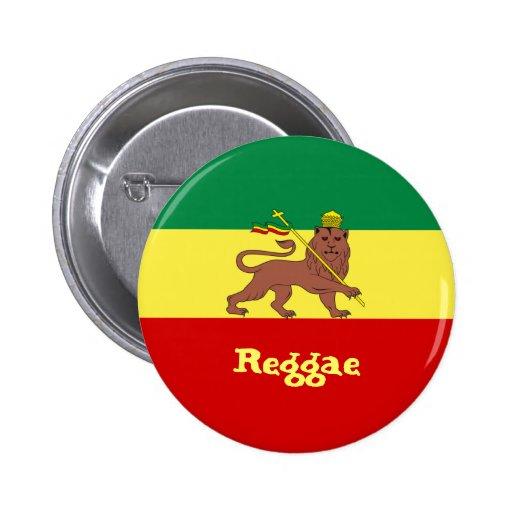 Rasta Reggae Lion of Judah Button