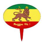 Rasta Reggae Lion Of Judah Cake Topper at Zazzle
