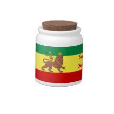Rasta Reggae Lion of Judah Candy Jars at Zazzle