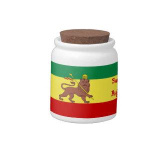 Rasta Reggae Lion of Judah Candy Jars