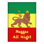 Rasta Reggae Lion Of Judah Card at Zazzle