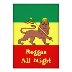 Rasta Reggae Lion Of Judah Card at Zazzle