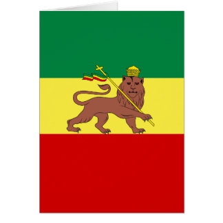 Rasta Reggae Lion of Judah Card