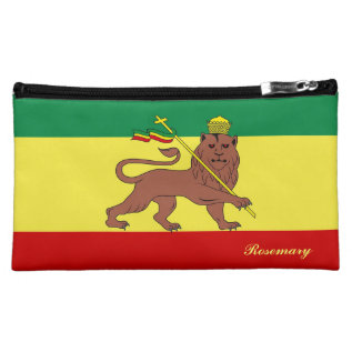 Rasta Reggae Lion Of Judah Cosmetic Bag at Zazzle