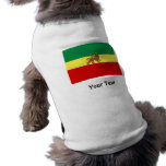 Rasta Reggae Lion of Judah Dog Tee Shirt