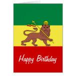 Rasta Reggae Lion of Judah Greeting Card