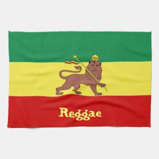 Rasta Reggae Lion Of Judah Hand Towel at Zazzle