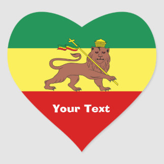 Rasta Reggae Lion of Judah Heart Sticker