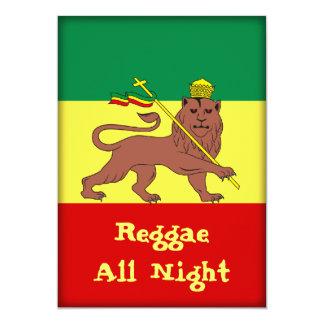 Rasta Reggae Lion of Judah 5x7 Paper Invitation Card
