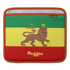 Rasta Reggae Lion Of Judah Ipad Sleeve at Zazzle