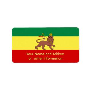 Rasta Reggae Lion of Judah Label at Zazzle