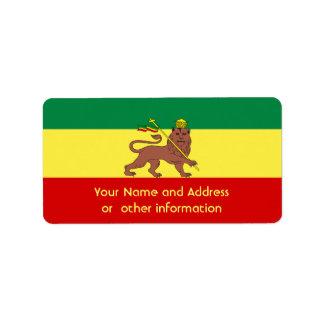 Rasta Reggae Lion of Judah Label