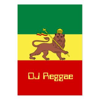 Rasta Reggae Lion of Judah Large Business Card