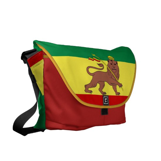 Rasta Reggae Lion of Judah Large Zero Messenger Courier Bag
