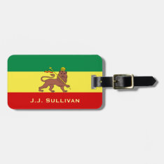 Rasta Reggae Lion Of Judah Luggage Tag at Zazzle