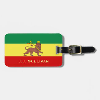 Rasta Reggae Lion of Judah Luggage Tag