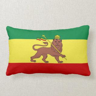 Rasta Reggae Lion Of Judah Lumbar Pillow at Zazzle