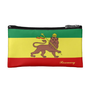 Rasta Reggae Lion Of Judah Makeup Bag at Zazzle