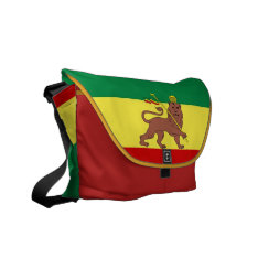 Rasta Reggae Lion Of Judah Medium Zero Messenger Courier Bag at Zazzle