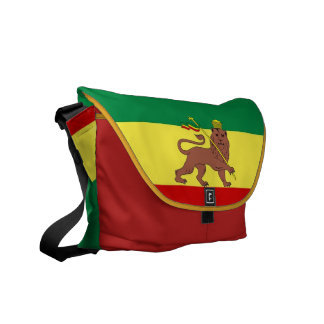 Rasta Reggae Lion of Judah Medium Zero Messenger Courier Bag