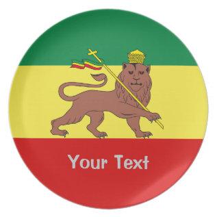 Rasta Reggae Lion Of Judah Melamine Plate at Zazzle