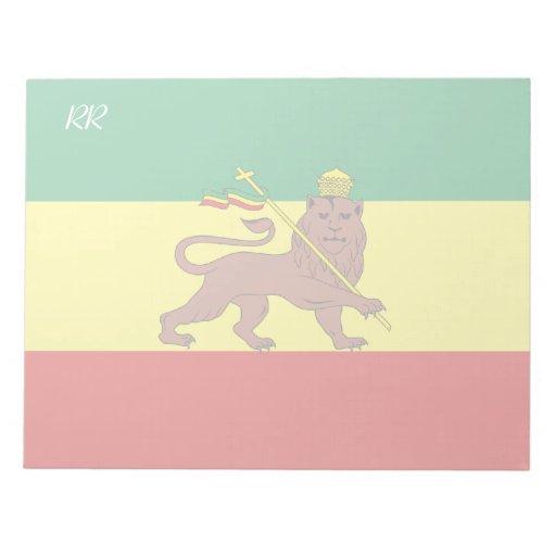 Rasta Reggae Lion of Judah Memo Pads