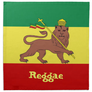 Rasta Reggae Lion Of Judah Napkin at Zazzle