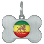 Rasta Reggae Lion of Judah Pet Name Tag