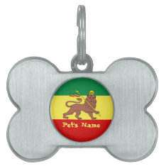 Rasta Reggae Lion Of Judah Pet Tag at Zazzle