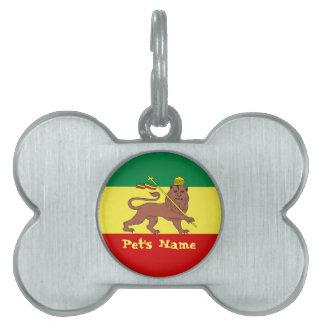 Rasta Reggae Lion of Judah Pet Tag