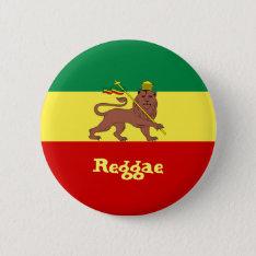 Rasta Reggae Lion Of Judah Pinback Button at Zazzle