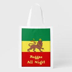 Rasta Reggae Lion Of Judah Reggae All Night Reusable Grocery Bag at Zazzle