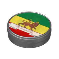 Rasta Reggae Lion of Judah Reggae Baby Jelly Belly Tin at Zazzle