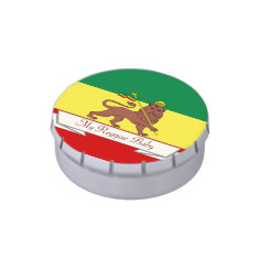 Rasta Reggae Lion of Judah Reggae Baby Jelly Belly Tins at Zazzle