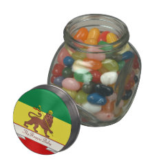 Rasta Reggae Lion Of Judah Reggae Baby Glass Jar at Zazzle