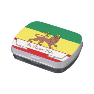 Rasta Reggae Lion of Judah Reggae Baby Jelly Belly Candy Tins