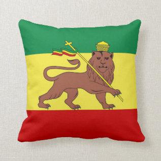 Rasta Reggae Lion Of Judah Throw Pillow at Zazzle