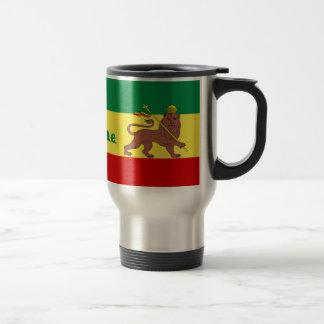 Rasta Reggae Lion of Judah Travel Mug