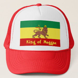 Rasta Reggae Lion of Judah Trucker Hat