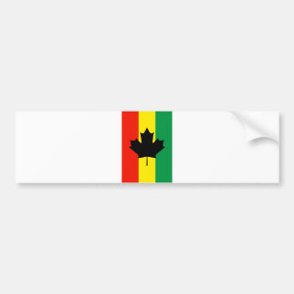 Rasta Reggae Maple Leaf Flag Bumper Sticker