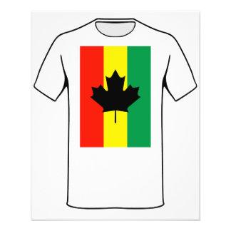 Rasta Reggae Maple Leaf Flag Full Color Flyer