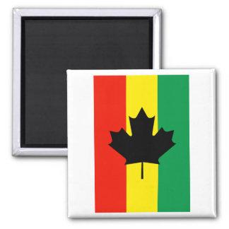 Rasta Reggae Maple Leaf Flag Magnet