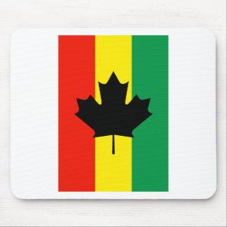 Rasta Reggae Maple Leaf Flag Mouse Pad