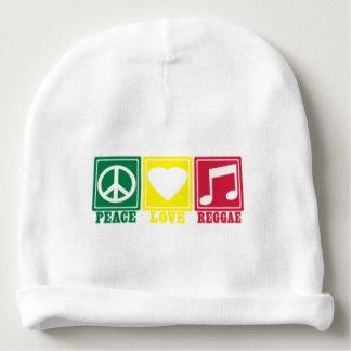 rasta reggae peace love baby beanie