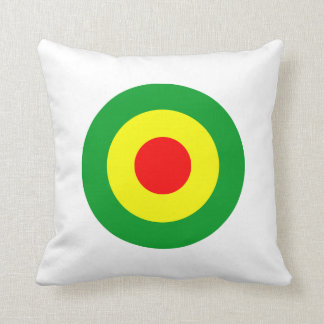 Rasta/Reggae Roundel Dub Throw Pillow