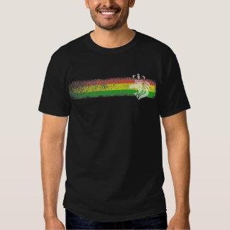 Rasta Reggae Stripes with Crowned Lion T Shirt