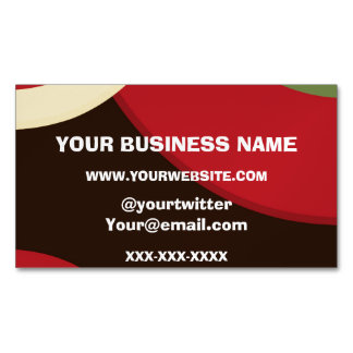 Rasta Retro Business Card Magnet
