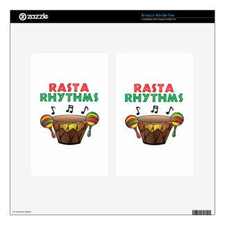Rasta Rhythms Kindle Fire Decal