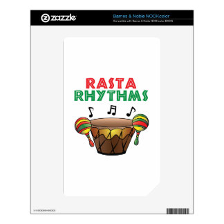 Rasta Rhythms Decal For The NOOK Color