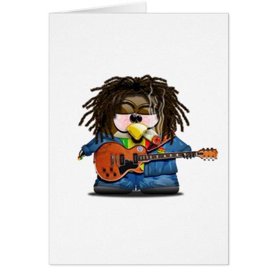 Rasta Rocker Reggae Tux Card